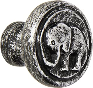 Siro Designs SD100-158 Elephant Knob, 1.9-Inch, Antique Silver