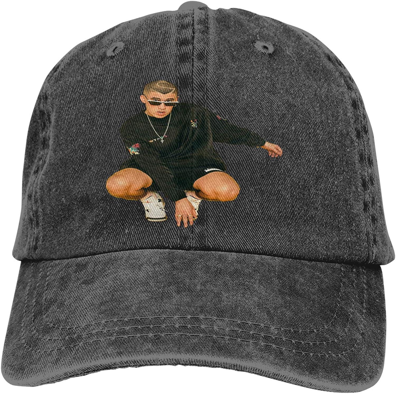 Zhengyu Bad Bunny Cowboy Hat Adjustable Baseball Cap Youth Retro Sports Cowboy Hat Unisex Black