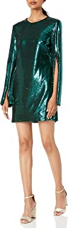Dress the Population Women's Liza Longsleeve Cape Sleeve Short Sequin Dress