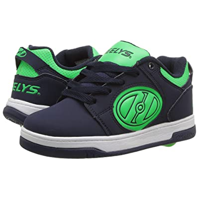Heelys Voyager (Little Kid/Big Kid/Adult) (Navy/Neon Green G.I.D) Boys Shoes