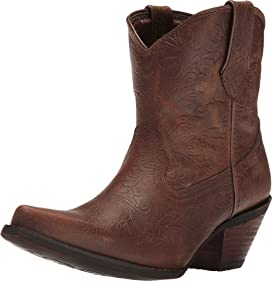 Crush Embossed Bootie