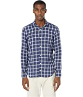 eleventy - Cotton Linen Plaid Shirt