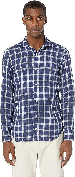 Cotton Linen Plaid Shirt