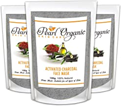 Pearl Organic Skincare Activated Charcoal Face Mask - Natural Pack For Skin Whitening, Blackhead whitehead remover, Deep P...