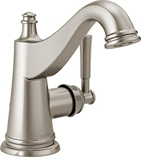 Delta Faucet Mylan Single Hole Bathroom Faucet Brushed Nickel, Single Handle, Drain Assembly, Worry-Free Drain Catch, Spot...