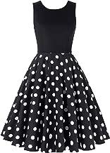 JS Fashion Vintage Dress Women's 1950's Vintage Sleeveless Swing Dresses by Grace Karin JS6086