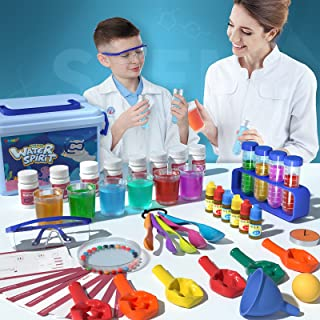 SNAEN Science Experiment Kit, 30 Science Lab Kit with Coat Goggles Laboratory Set Pretend Play Scientist Costume STEM Toys...