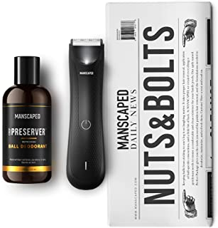 MANSCAPED™ Nuts and Bolts 3.0, Men's Grooming Kit, Includes The Lawn Mower™ 3.0 Ergonomically Designed Powerful Waterproof...
