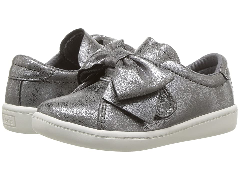 Keds Kids Ace Bow (Toddler/Little Kid) (Grey Synthetic) Girls Shoes