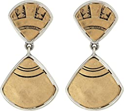 The Sak Fan Double Drop Earrings