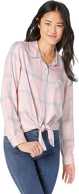 1c975407e85a1 Sanctuary tie back boyfriend shirt
