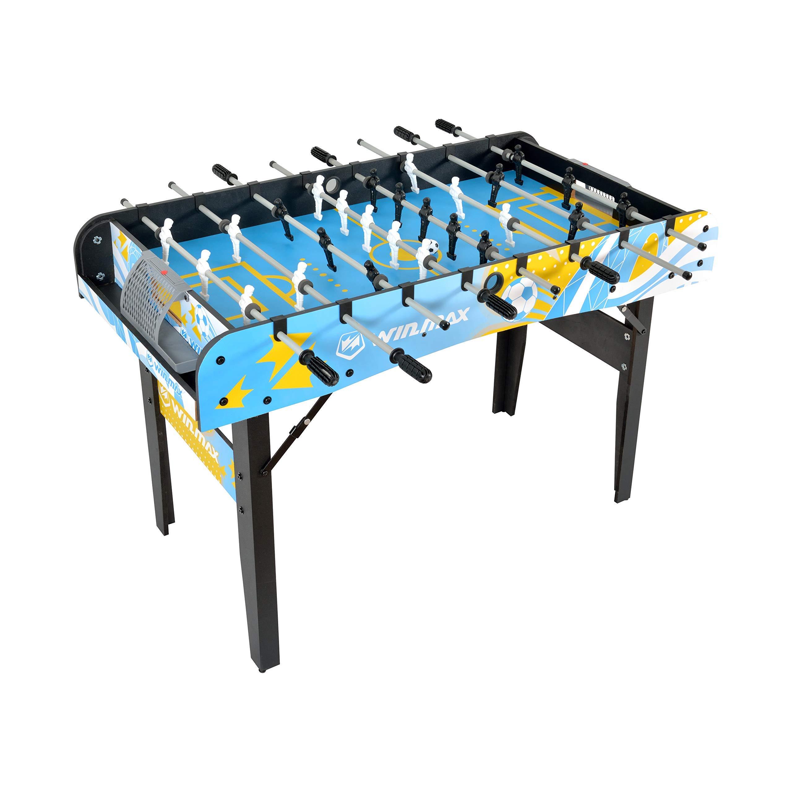 WIN.MAX Sin instalación Futbolín de Mesa - 121 x 61 x 81 cm: Amazon.es: Deportes y aire libre