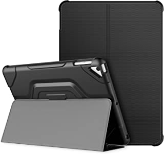 JETech Case for Apple iPad 9.7-inch (2018/2017 Model, 6th/5th Generation), Double-fold Stand with Shockproof TPU Back Cover, Auto Wake/Sleep, Black