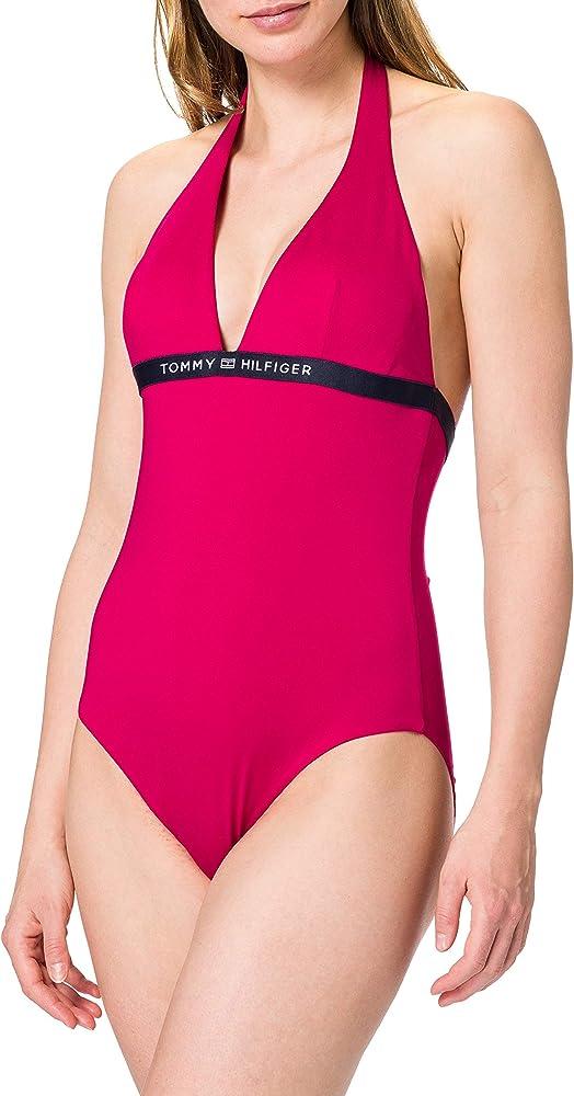 Tommy hilfiger one-piece halter costume da bagno intero per donna poliestere riciclato (85%) elastan (15%) UW0UW02711C