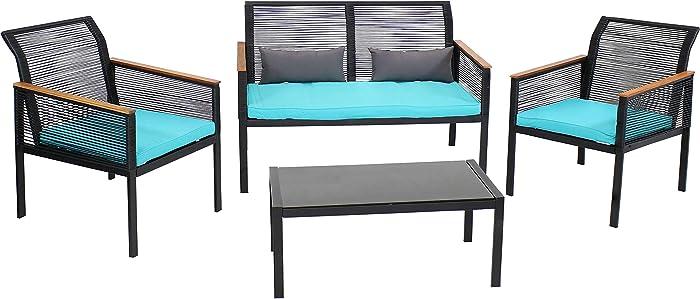 Updated 2021 – Top 10 4 Piece Outdoor Patio Furniture Set Juno