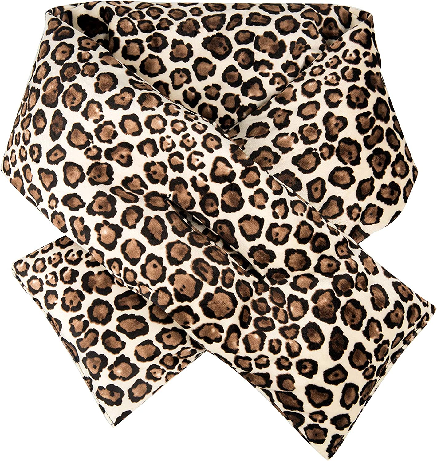 Orolay Women's Winter Soft Warm Scarf Down fill Quilted Scarf Leopard Print