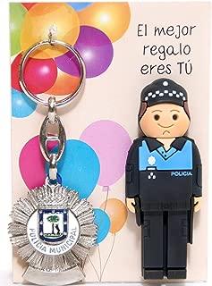 USB POLICIA Municipal de 16gb. con Llavero Placa DE POLICIA Municipal DE Madrid.