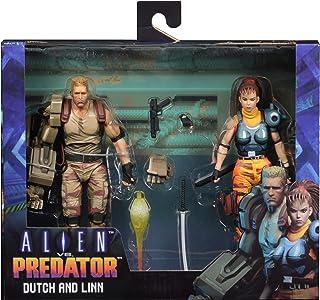 "NECA Alien Vs Predator (Arcade Appearance) - 7"" Scale Action Figures - Dutch & Linn 2 Pack"