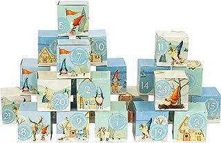 Papierdrachen DIY kalendarz adwentowy do wypełnienia - zestaw pudełek - motyw krasnali na drodze - 24 kolorowe pudełka z t...