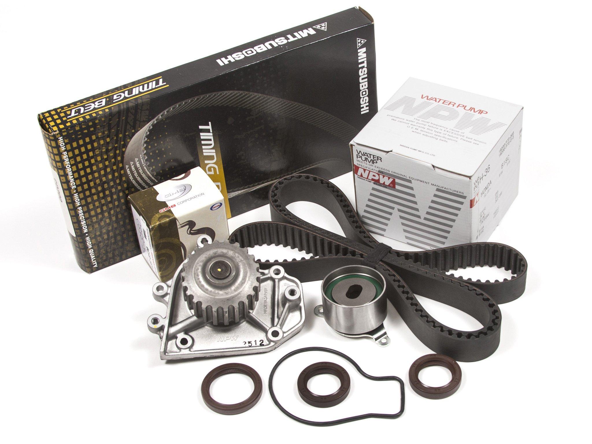 Evergreen tbk247mwpn 94 – 01 Acura Integra GSR Type-R VTEC – 1,8 DOHC B18 C1 B18 C5 correa de distribución Kit NPW Bomba de agua: Amazon.es: Coche y moto