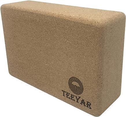 Cork Yoga Block(Cork Yoga Brick) – 100% Eco-Friendly Natural Cork Anti Microbial Exercise Block 9'' x 6'' x 3'' for Yoga Pilates Gym Practice by Tiiyar