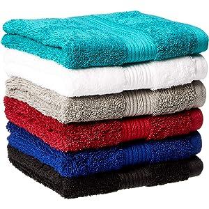 Ruthys Textile 5-Pack 27 X 54 100/% Cotton Bath Towels