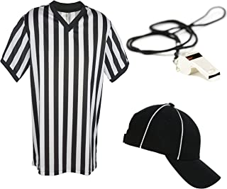 Mens Referee Shirts | V-Neck Style | Perfect Ref Shirt for Officials, Bars, More