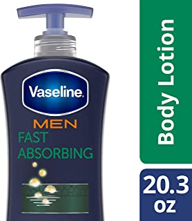 Vaseline Men Healing Moisture Body Lotion, Fast Absorbing, 20.3 Fl Oz (Pack of 1)