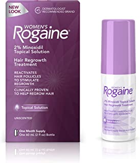 Women's Rogaine 2% Minoxidil Topical Solution for Hair Thinning and Loss, Topical Treatment for Women's Hair Regrowth, 1-M...