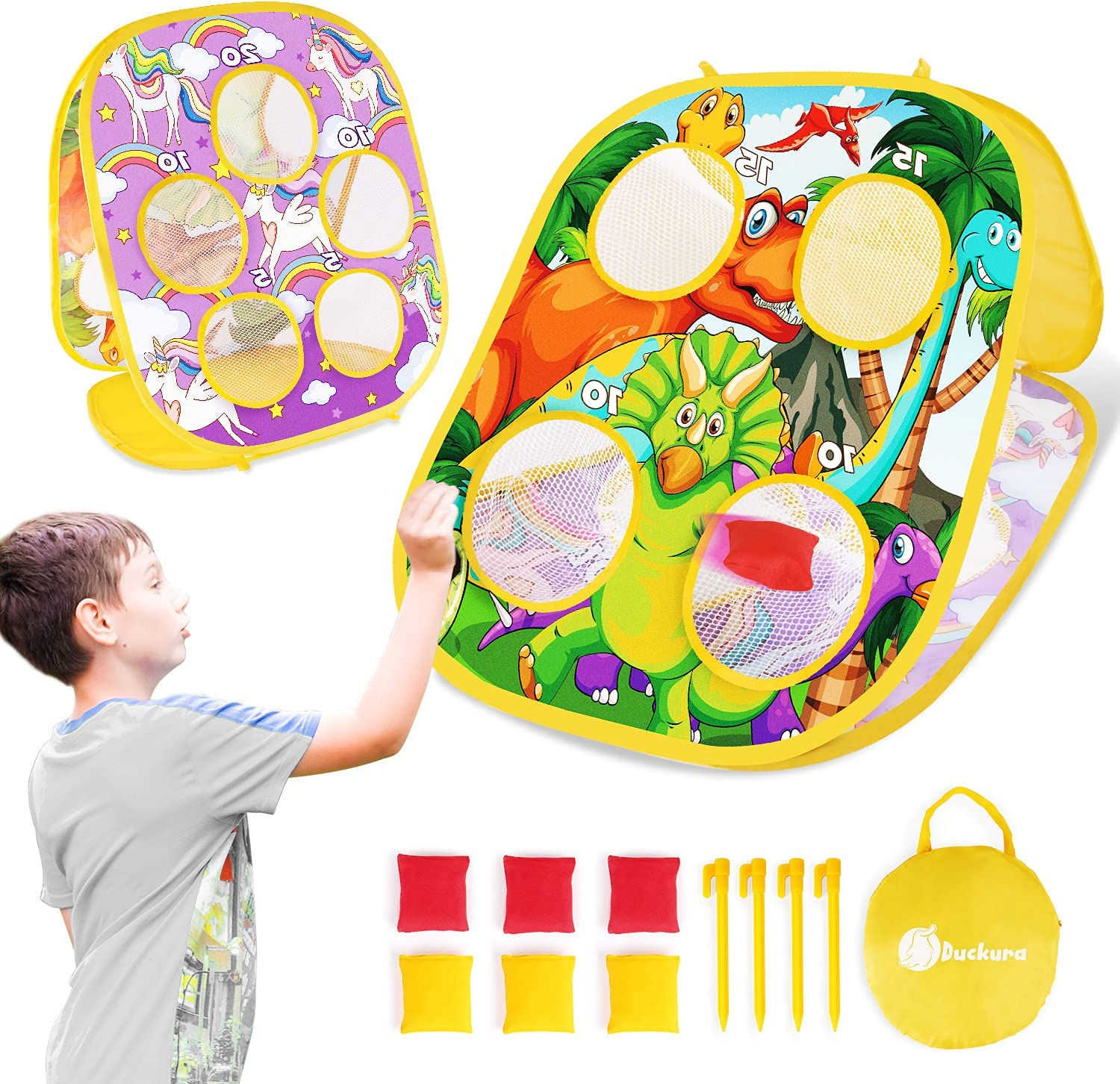 Duckura Bean Bag Toss Game Special sale item for Todd Kids low-pricing Beach Outdoor Toys