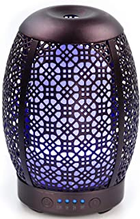 Essential Oil Diffuser, ARVIDSSON 100ml Metal Ultrasonic Aromatherapy Diffusers for Essential Oils, 7 Colors Night Light & Auto-off