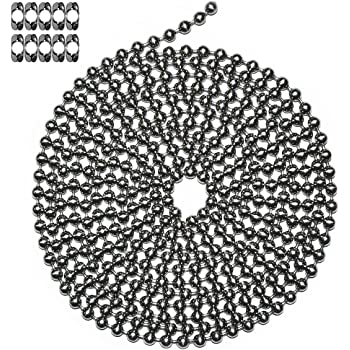 #10-NPS-10FT-10BCOUP-01 10 Matching B Couplings 10 Matching /'B/' Couplings Ball Chain Manufacturing Co Number 10 Size Inc 10 Foot Length Ball Chain Nickel Plated Steel