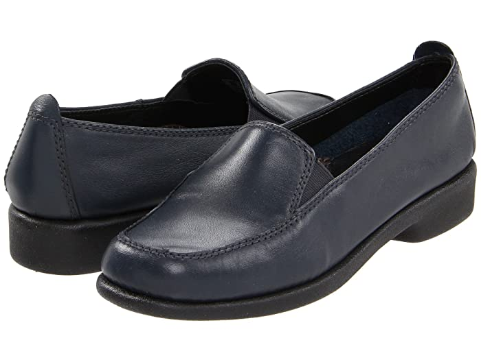 Hush Puppies  Heaven (Navy Leather) Womens Flat Shoes