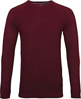 Tom Tailor Sweater Long-Sleeved Shirt Crew Neck Structured 3055116 0012 5465 Dark Red