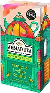 Ahmad Tea Dessert Loose Leaf Pyramid Teabags, Mango & Lychee Souffle, 15 Count