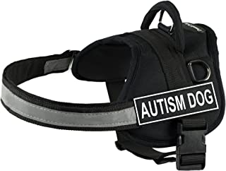 DT Works Harness, Autism Dog, Black/White, XX-Small - Fits Girth Size: 18-Inch to 21-Inch