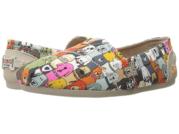 BOBS from SKECHERS  Bobs Plush - Wag Party (Multi) Womens Flat Shoes