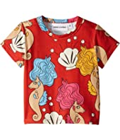 mini rodini - Seahorse Short Sleeve Tee (Infant/Toddler/Little Kids/Big Kids)