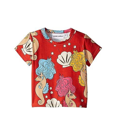 mini rodini Seahorse Short Sleeve Tee (Infant/Toddler/Little Kids/Big Kids)