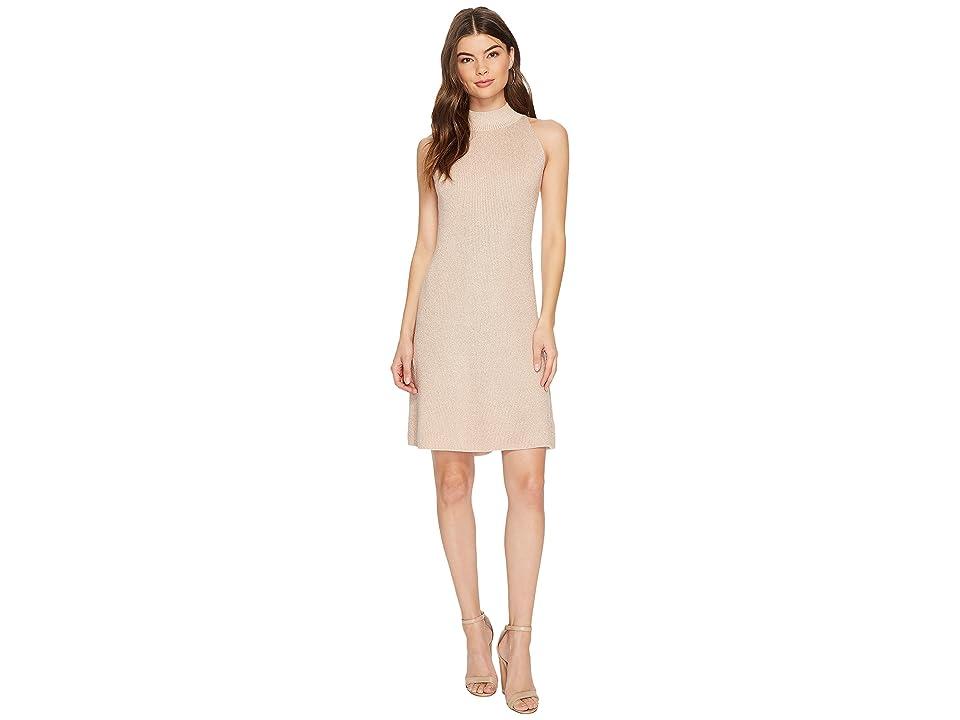 1.STATE Mock Neck Shift Dress (Blush Frost) Women