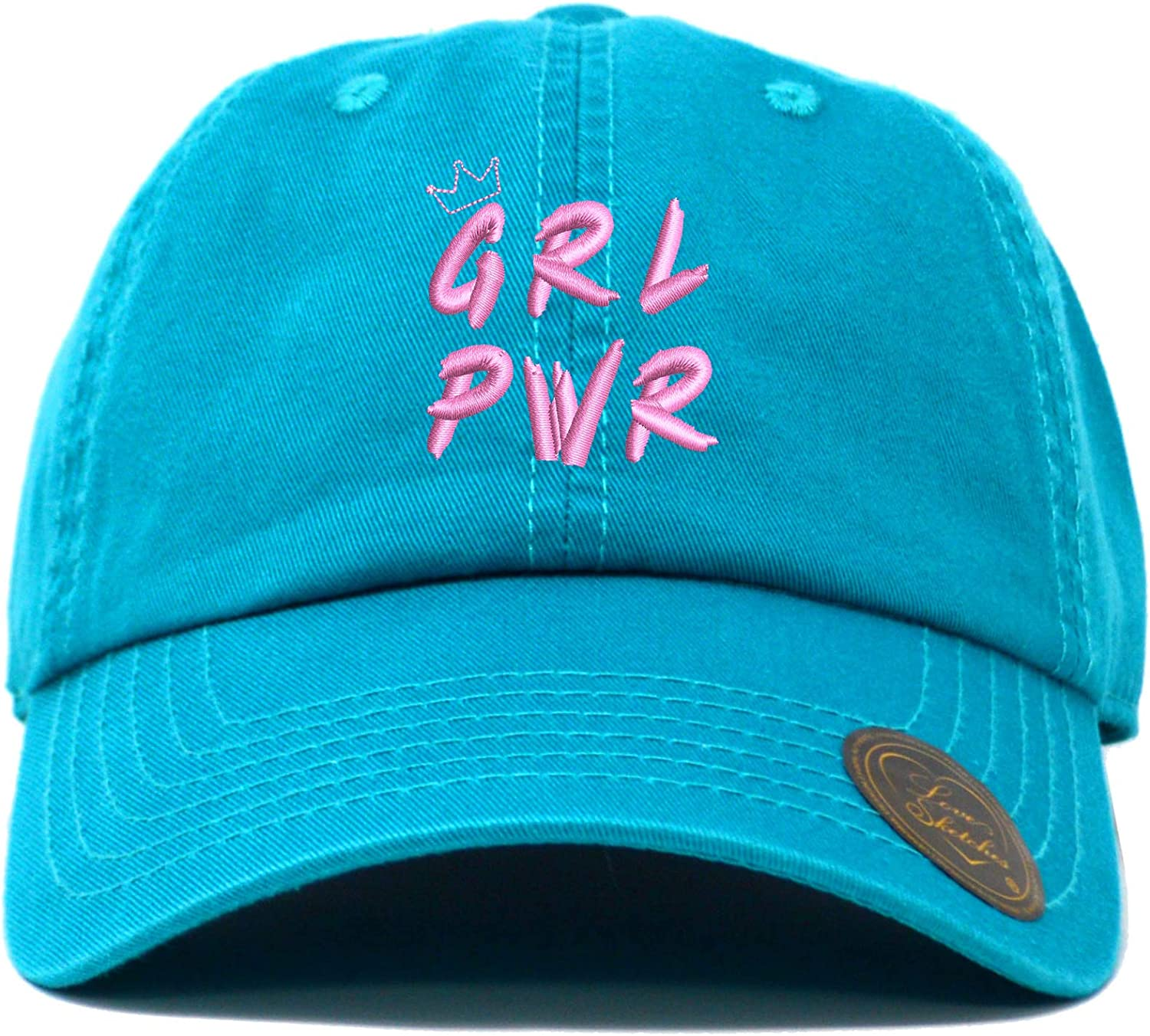 Love Sketches Girl Power GRL PWR with Crown Classic Polo Baseball Cap Low Profile Dad Cap Hat