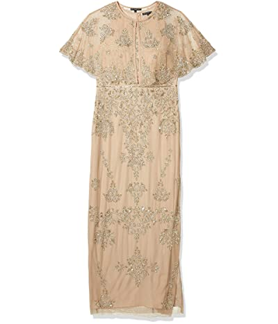 Adrianna Papell Beaded Wide Sleeve Gown
