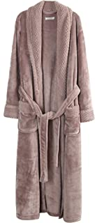 Richie House Women's Plush Soft Warm Fleece Bathrobe Robe RH1591