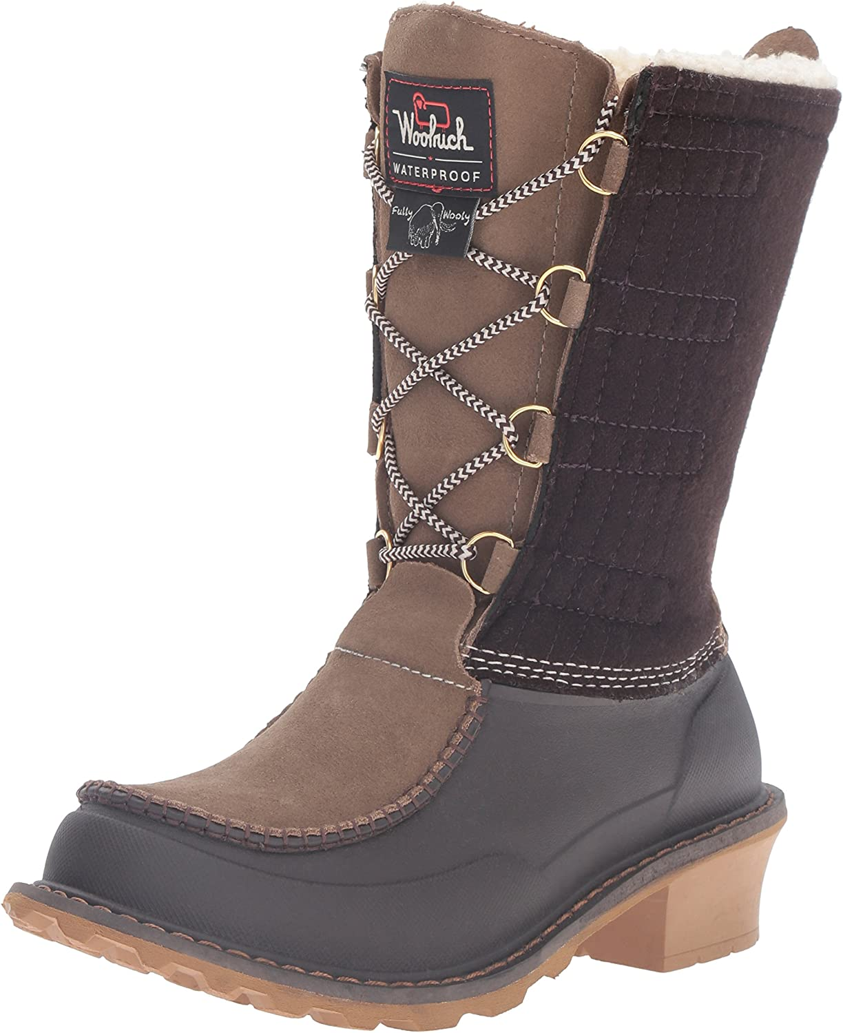 Woolrich Womens Fully Wooly Lace Snow Boot