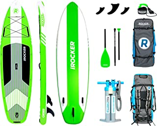 iROCKER Cruiser Inflatable Stand Up Paddle Board 10'6 Long 33 Wide 6 Thick SUP Package