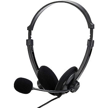 iBUFFALO 両耳ヘッドバンド式ヘッドセット USB接続 ブラック BSHSUH12BK