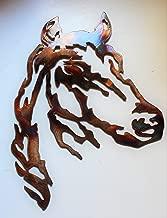 "Horse Head Metal Wall Art Western Decor 12"" x 9"""