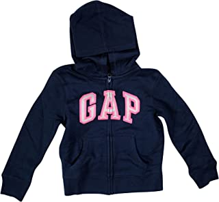 Girls Zip up Fleece Arch Logo Hoodie