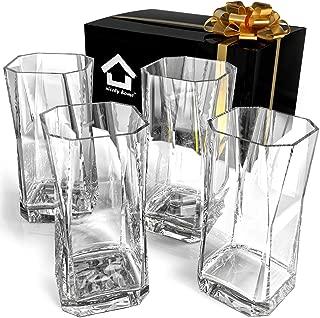 Highball Glasses - Drinking Glasses Set of 4 - Cocktail Glasses 17oz - Glass Water – Glassware Set – Large Bar Glasses - Housewarming Gift