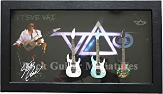 RGM8951 Steve Vai colección de Guitarra en Miniatura en Marco de Caja de Sombra